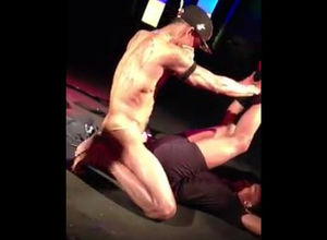 2 masculine strippers analingus each..