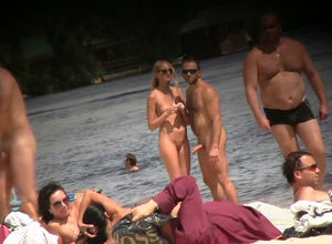 New hidden cam  from bare beach and..