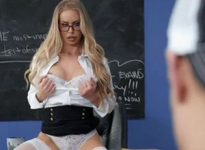 beautiful professor tempts her college..