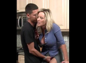 Pretty middle-aged housewife seduced..