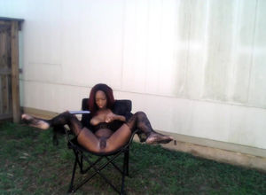 Ebony cockslut ion pantyhose make her..