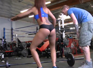 Rigid training, insane black girl with..
