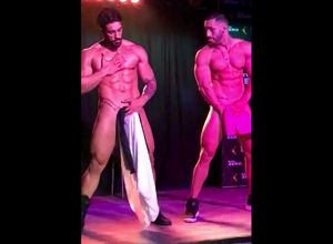 2 gigantic cocked masculine strippers..