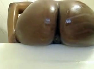 Fleshy ebony mother with a fabulous..