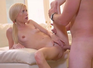 Petite exquisite blondie pleasing huge..