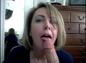 Sizzling wifey throating jizz-shotgun..