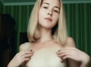 Sexy light-haired virgin undress for..