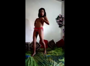 Indian Girlfriend dancing braless