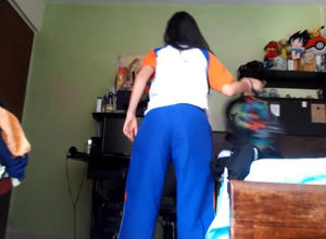 Uber-cute latina maiden changing,..
