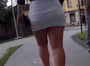 Lovely street upskirt movie from euro..