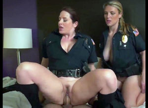 2 bigtit ash-blonde chicks officers..