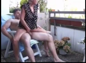 Elderly wifey tempts a neighbor's man,..