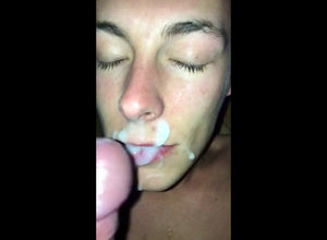 lad first-ever time facial cumshot