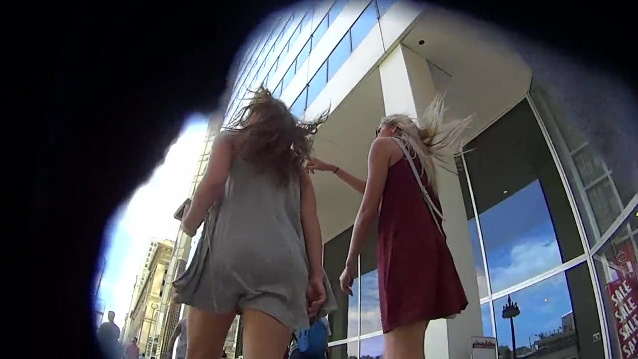 Stunning upskirt movie with 2..